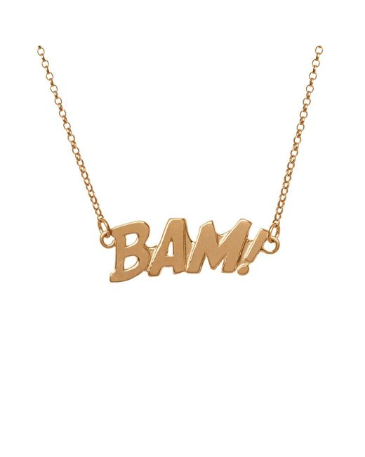 Edge Only | Metallic Bam Letters Necklace Large In Gold | Lyst