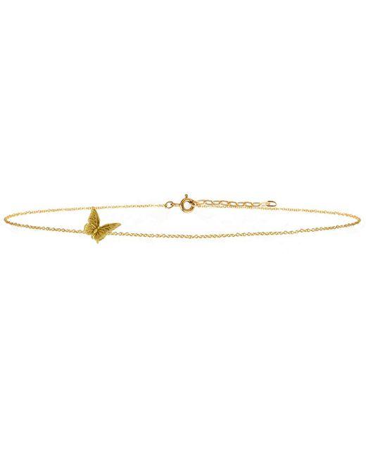 Lee Renee - Metallic Butterfly Choker Necklace Gold Vermeil - Lyst