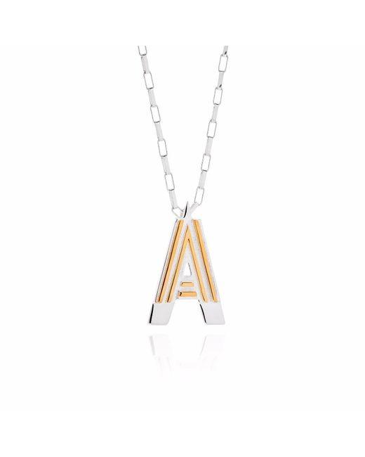 Yasmin Everley Jewellery - Metallic Saxony A Initial Necklace - Lyst