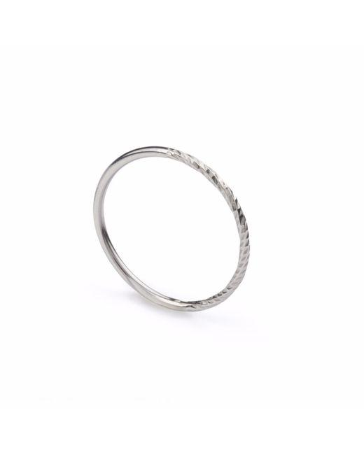 Myia Bonner   Metallic Silver Diamond Round Stacking Ring   Lyst