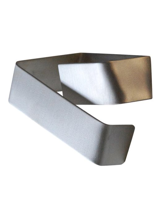 Linnie Mclarty | Metallic Wait Here Help Is On The Way Silver Cuff | Lyst