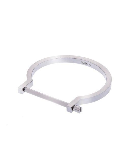 Opes Robur | Metallic Silver Classic Screw Cuff Bracelet | Lyst