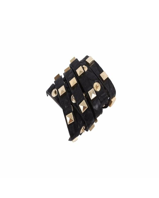 STYLESTRING | Multi Functional Accessory Pyramid Stud Gold On Black | Lyst
