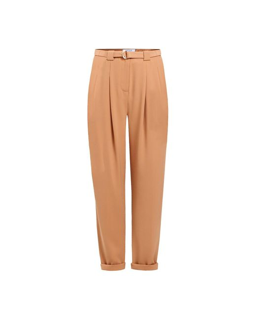 Paisie - Brown Peg Leg Trousers With D-ring Belt In Tan - Lyst