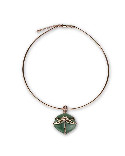 Bellus Domina - Green Aventurine Dragonfly Necklace - Lyst