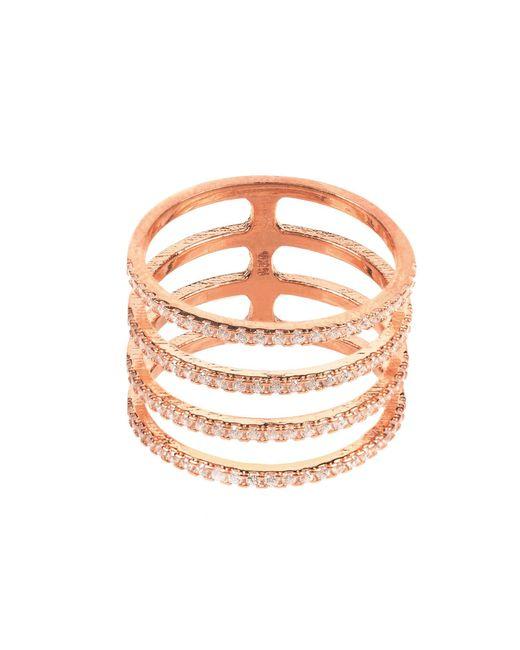 Latelita London | Multicolor Four Line Geometric Fashion Ring Rosegold | Lyst