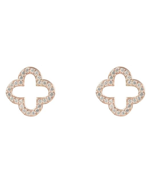 Latelita London - Multicolor Rosegold Open Clover Earring - Lyst