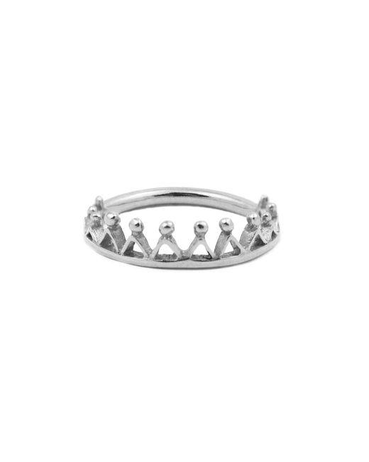 Annabelle Lucilla Jewellery - Metallic Dainty Stella Crown Ring Silver - Lyst