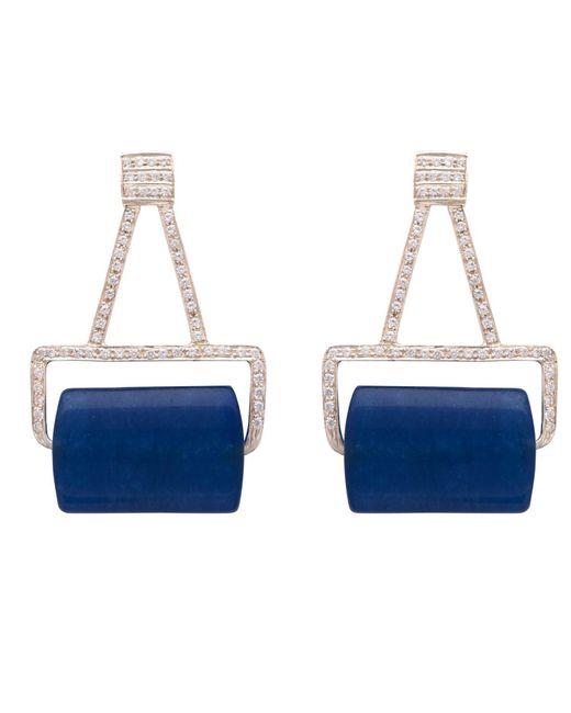 Carousel Jewels - Blue Aventurine And Crystal Earrings - Lyst