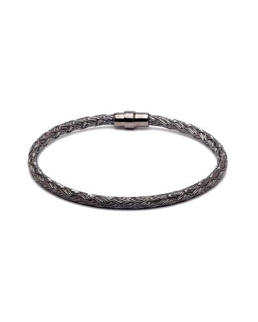 Durrah Jewelry - Black Graphite Woven Bracelet For Him for Men - Lyst