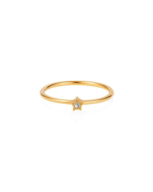 Lee Renee - Metallic Tiny Star Ring White Sapphire & Gold - Lyst