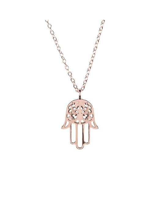 Latelita - Multicolor Cosmic Hamsa Necklace Rosegold - Lyst