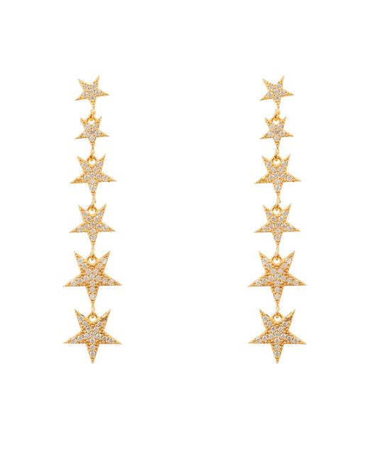 Latelita London - Metallic Graduated Star Drop Earring Gold - Lyst