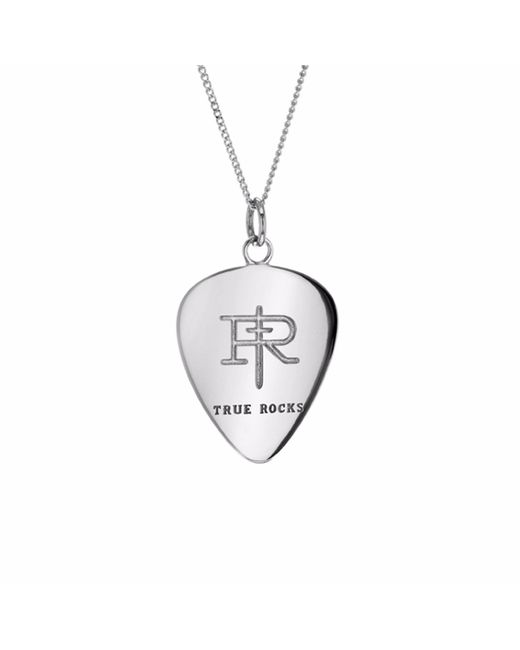 True Rocks - Metallic Plectrum Necklace Silver - Lyst