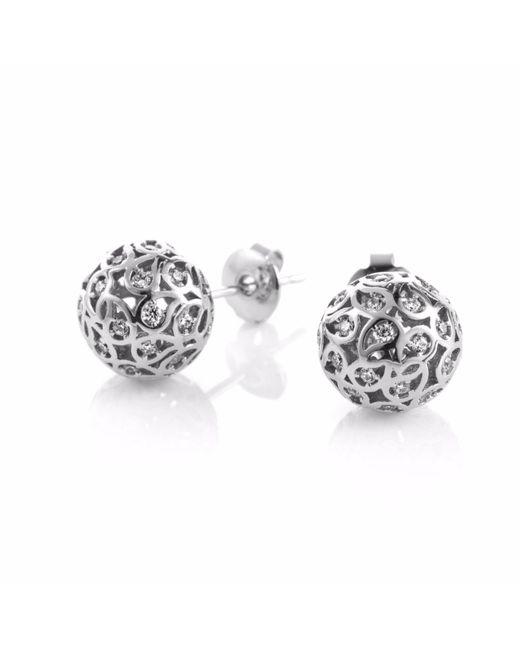 Sonal Bhaskaran | Metallic Svar Silver Stud Earrings Clear Cz | Lyst