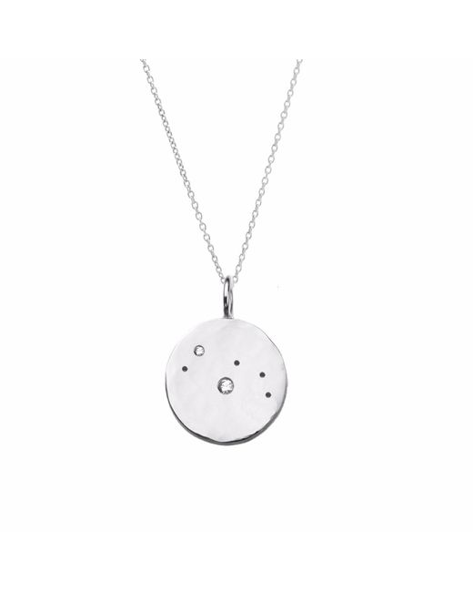 Yvonne Henderson Jewellery - Metallic Aries Constellation Necklace With White Sapphires - Lyst