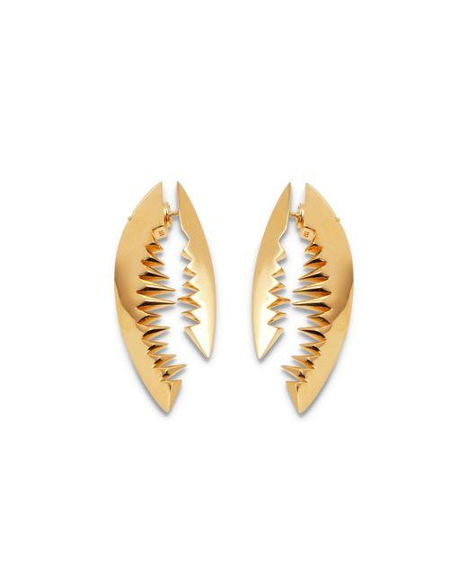 Kasun - Metallic Shark Bite Gold Earrings - Lyst