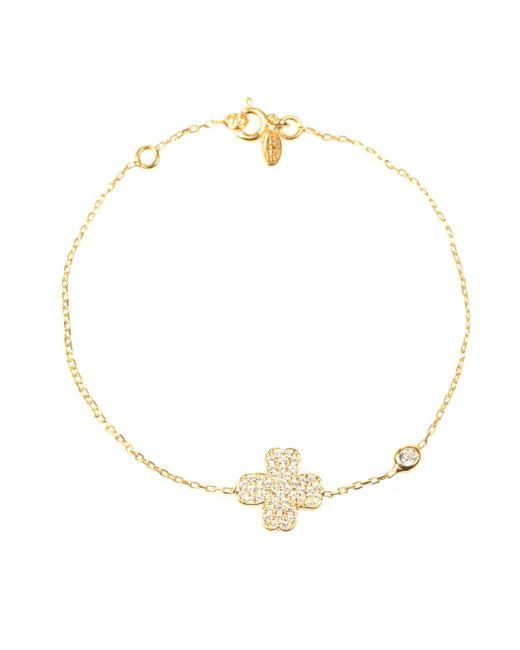 Latelita London | Metallic Lucky Clover Bracelet Gold | Lyst