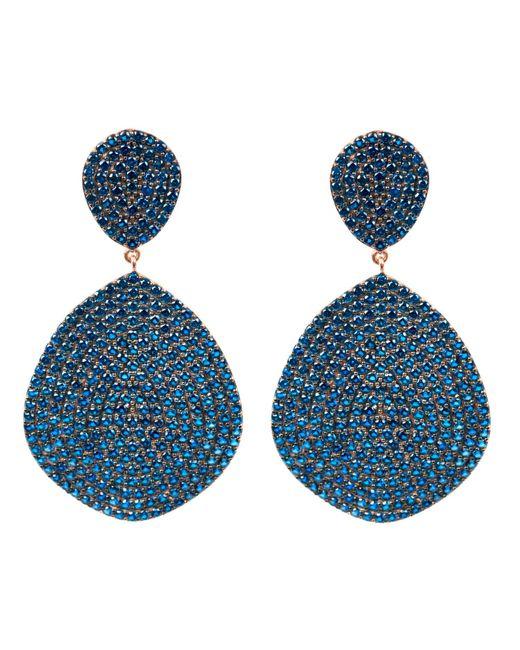 Latelita London - Blue Monte Carlo Earring Rosegold Sapphire Zircon - Lyst