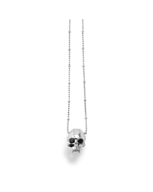 Kasun - Black Jawless Vampire Skull Pendant Silver - Lyst