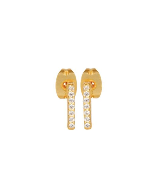 Carousel Jewels - Metallic Mini Gold Studs With Crystals - Lyst