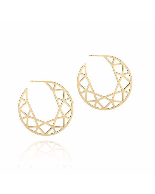 Myia Bonner | Metallic Gold Brilliant Diamond Hoop Earrings | Lyst