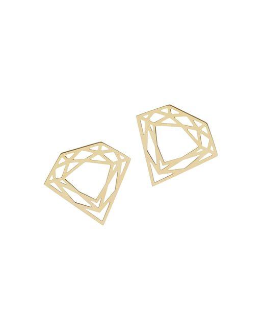 Myia Bonner | Metallic Gold Classic Diamond Stud Earrings | Lyst