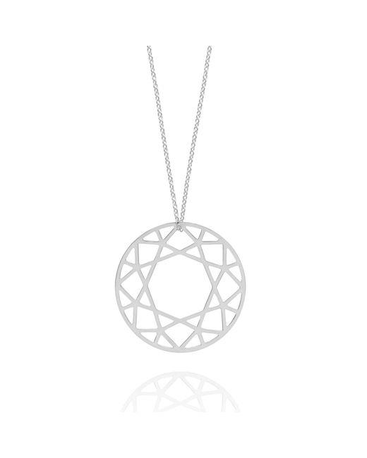 Myia Bonner | Metallic Large Silver Brilliant Diamond Necklace | Lyst