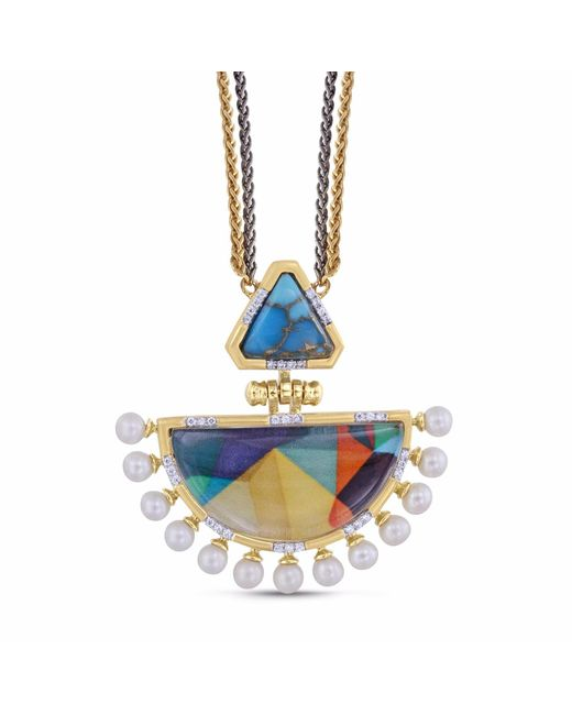 LMJ - Blue My Colorful Legacy Necklace - Lyst