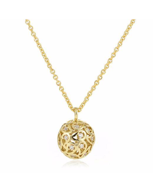 Sonal Bhaskaran | Metallic Svar Gold Sphere Necklace Clear Cz | Lyst