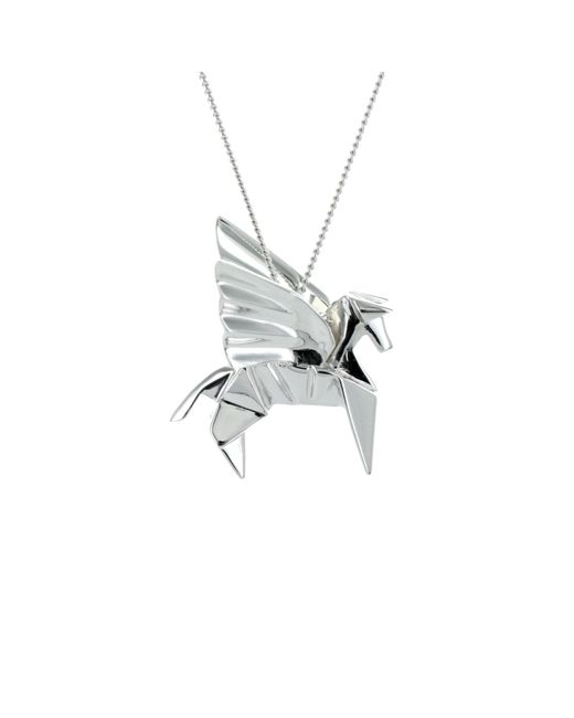 Origami Jewellery | Metallic Pegazus Necklace Silver | Lyst