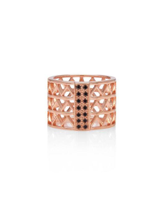 Alexandra Alberta   Pink Guggenheim Black Diamond Ring   Lyst