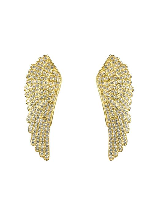 Latelita London   Metallic Large Angel Wing Earring Gold   Lyst