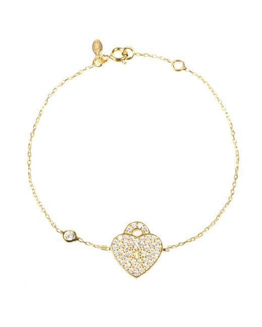 Latelita London | Metallic Key To My Heart Bracelet Gold | Lyst