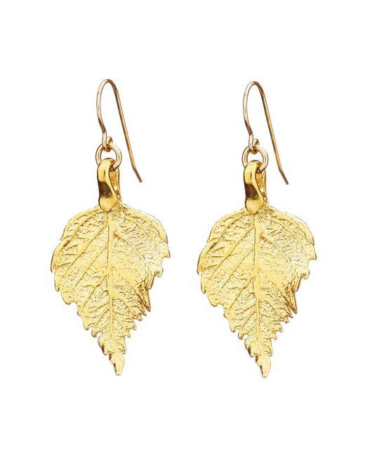 Chupi | Metallic Tiny The Sweetest Thing Raspberry Leaf Earrings | Lyst