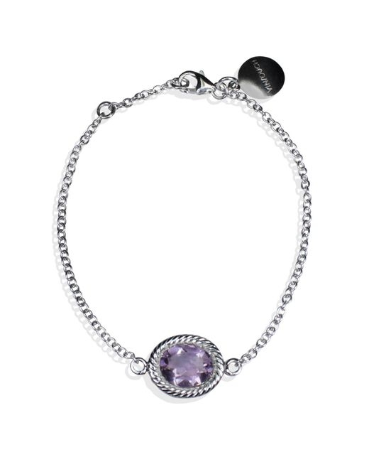Vintouch Italy - Metallic Luccichio Amethyst Bracelet - Lyst