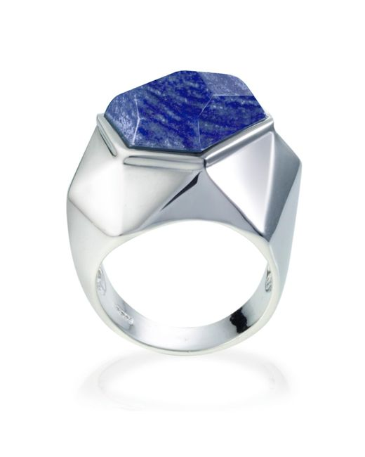 Ona Chan Jewelry | Lattice Cocktail Ring Blue Quartz | Lyst