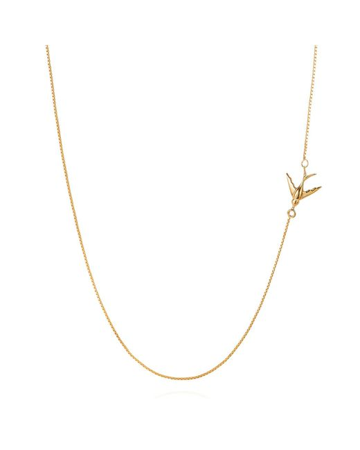 Lee Renee - Metallic Swallow Necklace – Gold Vermeil - Lyst