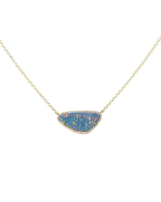Ri Noor | Metallic Opal Slice Gold Necklace | Lyst