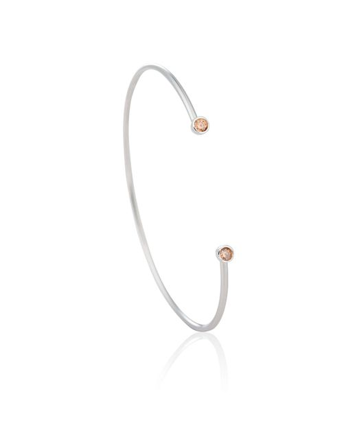 Astrid & Miyu - Metallic Zodiac Scorpio Bangle In Silver - Lyst
