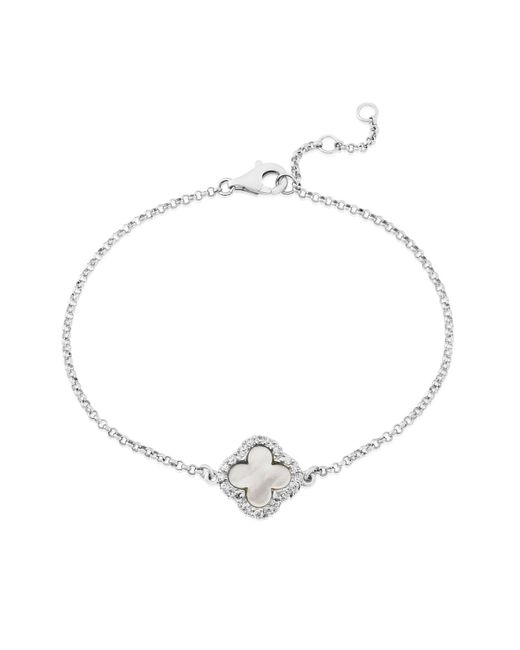 Auree Jewellery - Metallic Irini Sterling Silver And Mother Of Pearl Clover Bracelet - Lyst