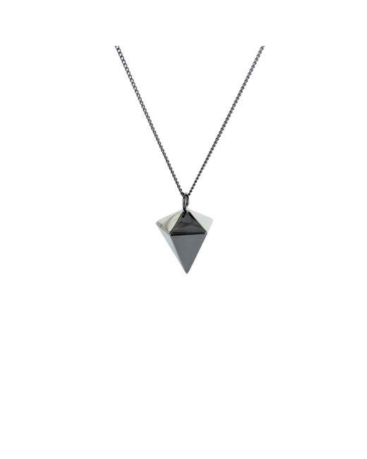 Origami Jewellery - Black Mini Decagem Necklace Gun Metal - Lyst