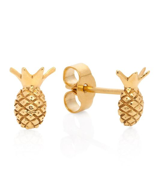 Lee Renee | Metallic Pineapple Stud Earrings | Lyst