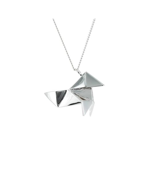 Origami Jewellery | Metallic Cuckoo Necklace Sterling Silver | Lyst