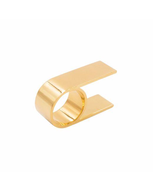 KIMSU - Metallic 18k Vermeil Gold Double Finger Ring - Lyst