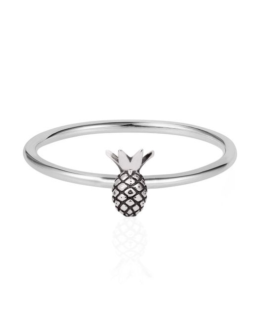 Lee Renee - Metallic Tiny Pineapple Ring Silver - Lyst