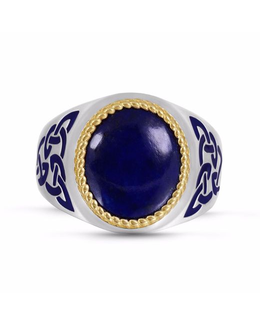 LMJ - Blue Lapis Lazuli Stone Ring for Men - Lyst