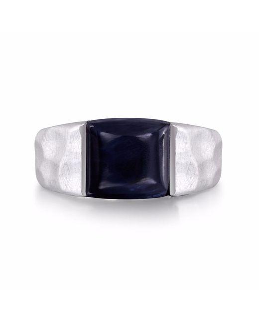 LMJ - Blue Pietersite Stone Ring for Men - Lyst