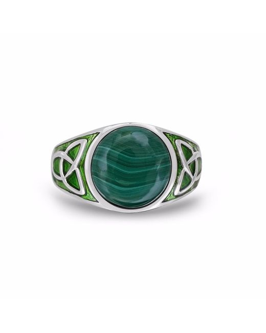 LMJ | Green Malachite Cabochon Flat Back Stone Ring | Lyst