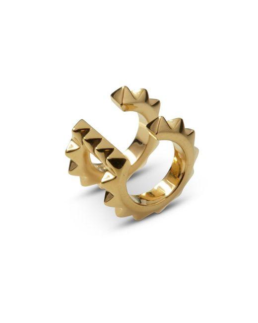 Kasun - Metallic Croc Double Ear Cuff Yellow Gold - Lyst